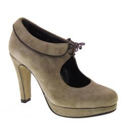 Lady Luana 2530, Tronchetti invernali donna piedi piccoli in camoscio taupe made in Italy