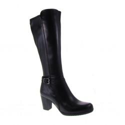 MERCANTE DI FIORI art. ZH1609, Stivali Donna con gambale stretto realizzato in Vitello Dior Nero