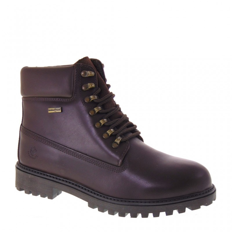 reputable site 42c12 85e77 Details about LUMBERJACK RIVER SM00101-015 WATERPROOF BROWN LEATHER BOOTS  MAN WINTER
