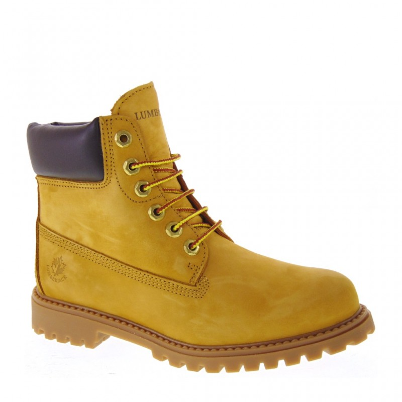pretty nice d9945 e9094 Details about LUMBERJACK RIVER SW00101-013 BOOTS WOMAN WINTER NUBUCK YELLOW  BROWN