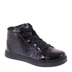Lumberjack SG37605-001 CAPS Sneakers Invernali Bambina Glitter Vernice Nero