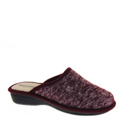 VALLEVERDE 25202 Bordo Pantofole Donna Invernali Panno Caldo Made in Italy