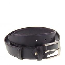Cintura classica Uomo Valleverde pelle Testa di Moro altezza 4 centimetri fibbia acciaio satinato