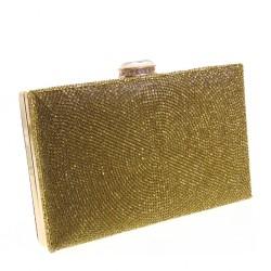 Pochette da sera Michelle Moon HD332 bifacciale oro bronzo