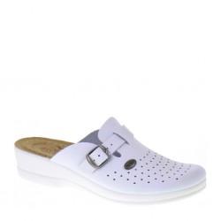 FLY FLOT 63465 Pantofole donna sanitarie regolabili bianche zeppa 30