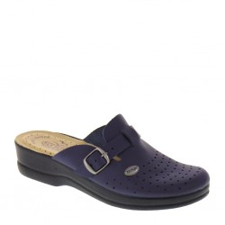 FLY FLOT 63465 Pantofole donna sanitarie regolabili blu zeppa 30