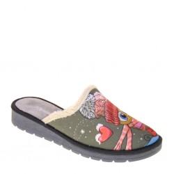 RIPOSELLA Home 4764 Grigio Pantofole Donna in Panno caldo con tema  invernale raffigurato 1891884e66c