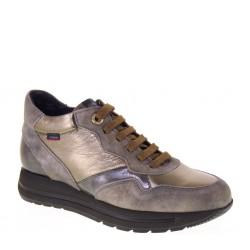 CALLAGHAN 40700 Sneakers Donna Nego Pelle e Camoscio Grigio Pietra Invernali soletta estraibile