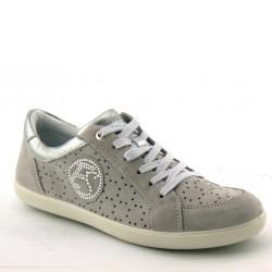 Enval Soft 3914 Donna Estive Sneakers camoscio traforato grigio perla
