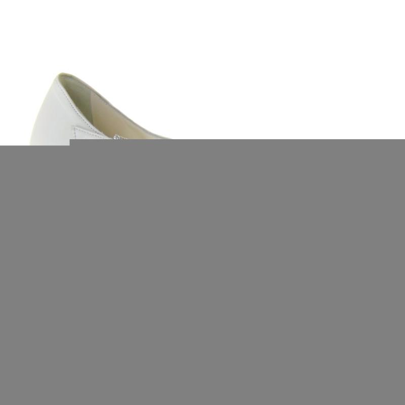 Scarpe Sposa Bianco Seta.Elata S2617 Scarpe Sposa Pelle Bianco Seta Tacco 10 Plateau 1