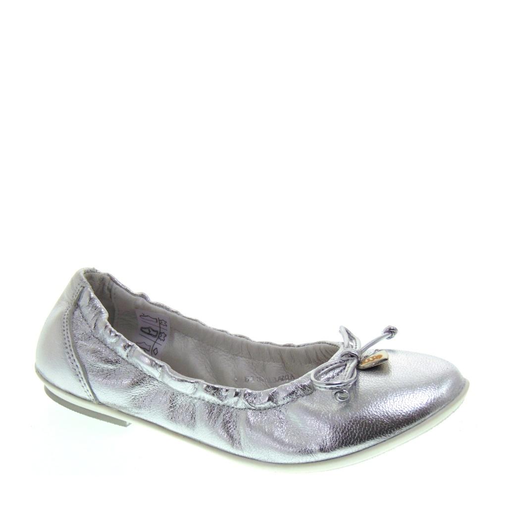 Ballerine da Bambina in pelle argento – Asso 45059 ... 461ab33f52d