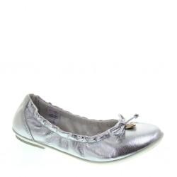 Ballerine da Bambina in pelle argento – Asso 45059