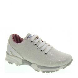 Sneakers basse da Bambina con glitter bianco -  ASSO 45700