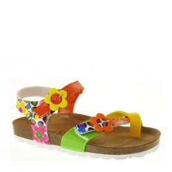 Sandaletti da Bambina a infradito in pelle multiarancio – GRUNLAND LUCE SB0565