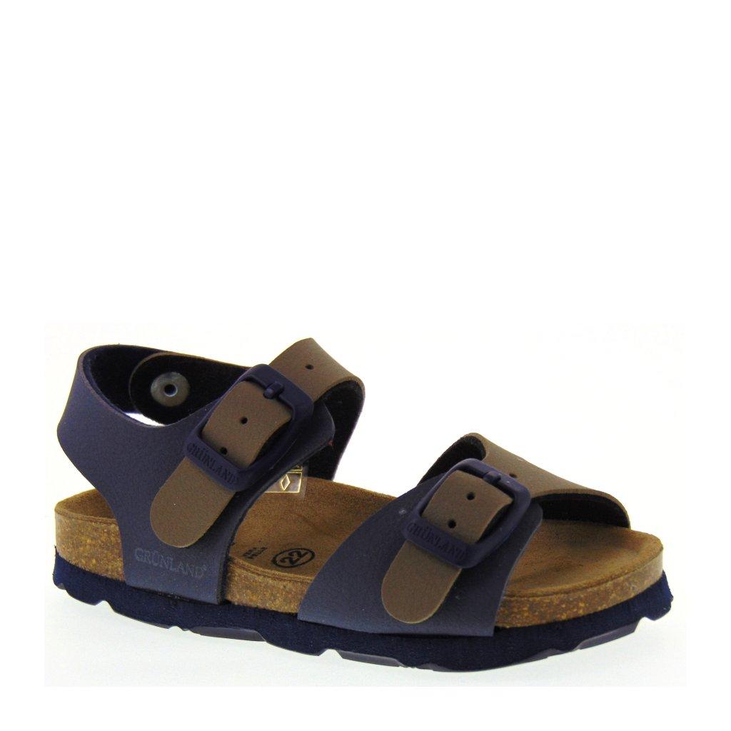 Sandali blu bio per bambini Grunland Junior 7PxCgvv