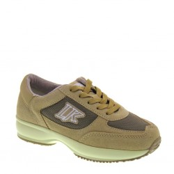 Sneakers basse da Bambino in camoscio e tessuto beige -  LUMBERJACK SB01305002