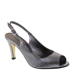 Valleverde 38651 Donna Sandali pelle argento tacco 9