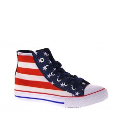 BLAIKE Yankees BV010016T Sneakers alte per Bimbo con Bandiera Americana disegnata