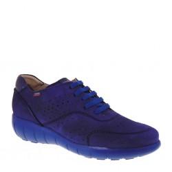 CALLAGHAN 11600 Sneakers estive traforata in Nubuck Blu Oceano