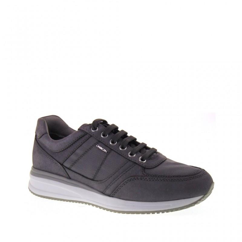 Men's Geox Respira Grigio Casual Scarpe/Sneaker UK 9 Nuovo con etichette