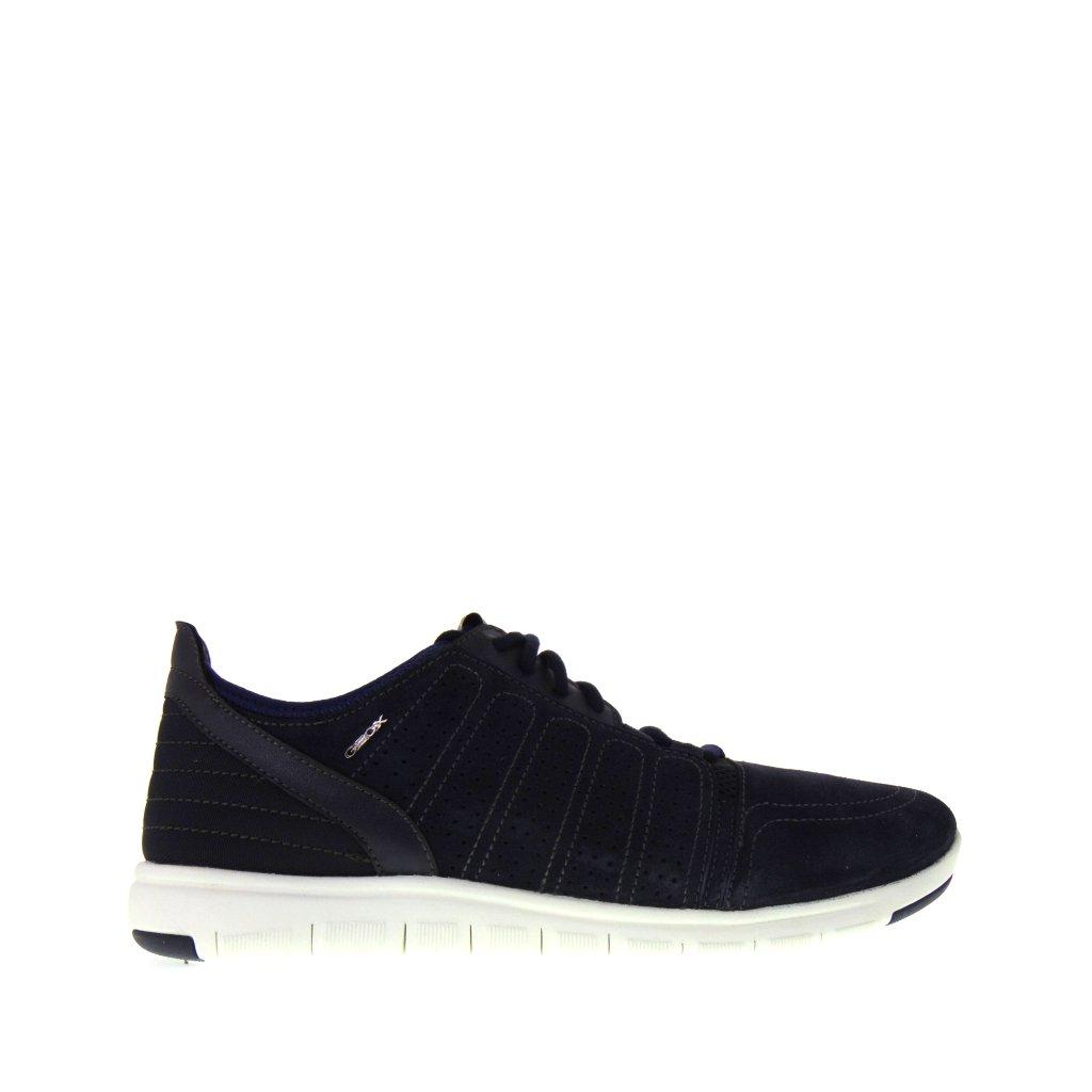 ... GEOX Xunday 2 FIT B U720DB 02211 C4064 Sneakers estive uomo in Camoscio  Blu Navy con 9aec525a449