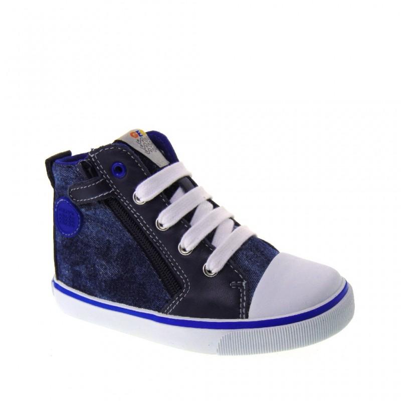 Sneakers blu navy con cerniera per bambini uXJjoZBjc7