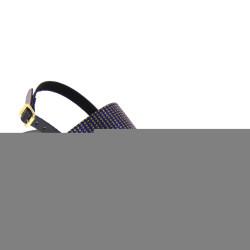 ANTICA CUOIERIA 20569-2-AE3 Sandali Donna con tacco Glamour Vernice Dark Blu Nero