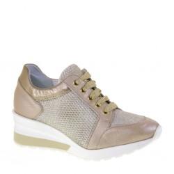 ILARIO MORELLI 18E2209 Sneakers Donna stringate color Rosa Cipria perlato  MADE IN ITALY af3c3a2d0c6