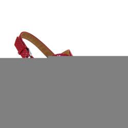 MARIAMARE 66691 C32702 Sandali con zeppa rivestita in corda Color Rosso rubino