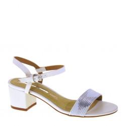 MARIAMARE 66739 C32812 Brush White Painted Sandali con tacco 50 Bianco e Grigio