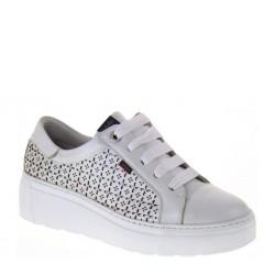CALLAGHAN 14910 Natural Metal Blanco Plata Moon Line Sneakers Platform in Pelle Bianco Argento