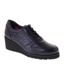 CALLAGHAN 24503 Springer Negro Chap Sneakers Donna in Pelle Nera