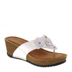 FLY FLOT 33C50AG Infradito Ciabatte estive Donna Bianco Made in Italy