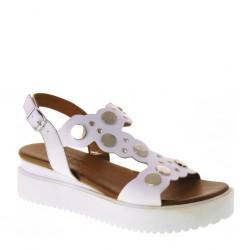 MELLUSO Walk K55053 Sandali Donna in Pelle Bianco