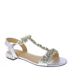 MENBUR 09626 0009 Sandali eleganti bassi Grigio Argento Tacco 20 mm