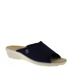 FLY FLOT T4429FE Ciabatte estive Donna in Tessuto Spugna Blu Made in Italy